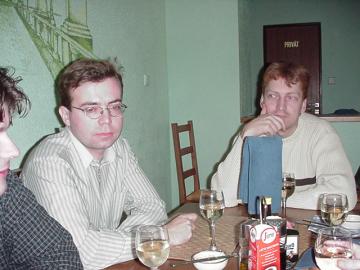 David Petrla a Emil Vařeka v pizerii