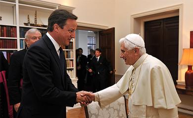 David Cameron a Benedikt XVI.