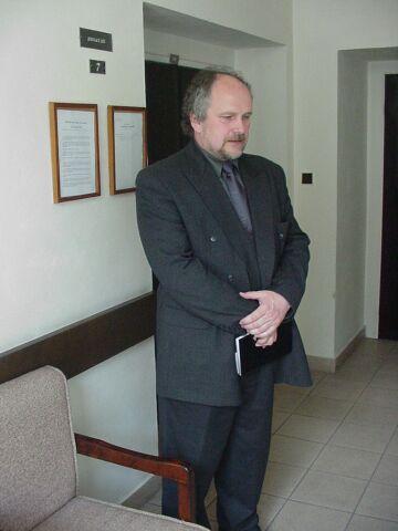 Jaroslav Grmolec před soudní síní