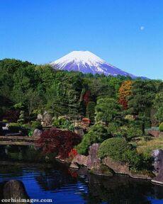 Ilustrační foto: Japonská zahrada pod horou Fuji