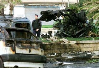 Vybuchlé auto po útoku ETA