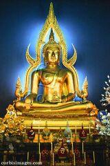 Zlatý žhnoucí buddha